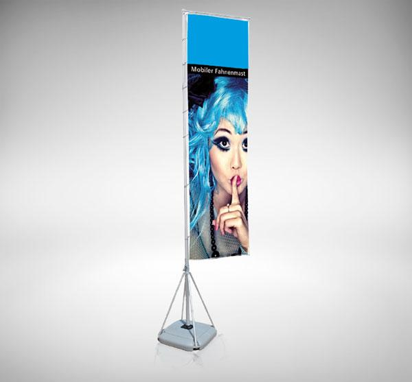 mobile fahne xxl pole inkl druck standfest und flexibel. Black Bedroom Furniture Sets. Home Design Ideas