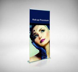 Rollup Premium für schnellen Grafikwechsel durch austauschbare Kassette