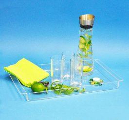 Tablett aus Acrylglas