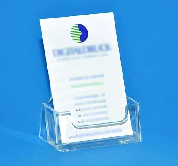 Visitenkartenhalter Hochformat