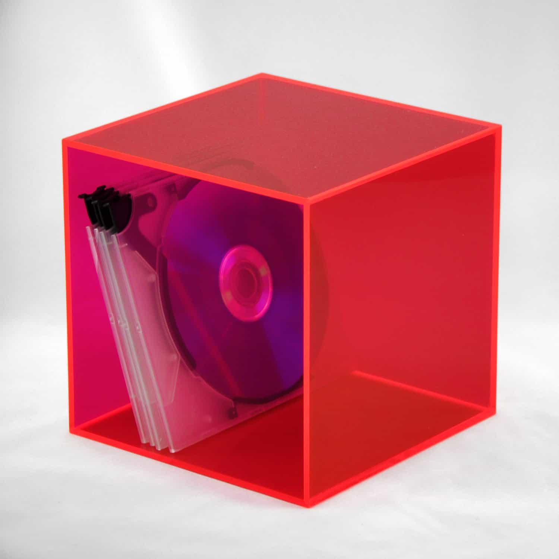 cd box cd w rfel aus acryl in verschiedenen farben. Black Bedroom Furniture Sets. Home Design Ideas