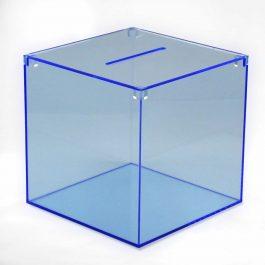 Losbox blau transparent Acryl
