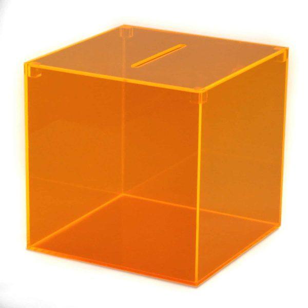 Losbox orange durchsichtig