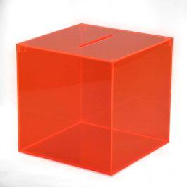 Losbox rot durchscheinend aus Acryl