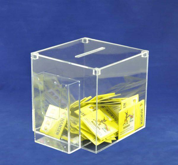Losbox mit Broschürenhalter