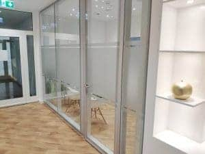 Sichtschutzfolie Glastrennwand