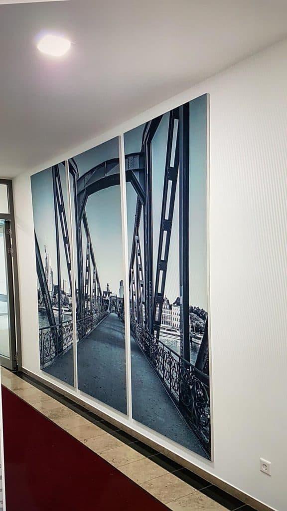 Textildruck Eiserner Steg Frankfurt