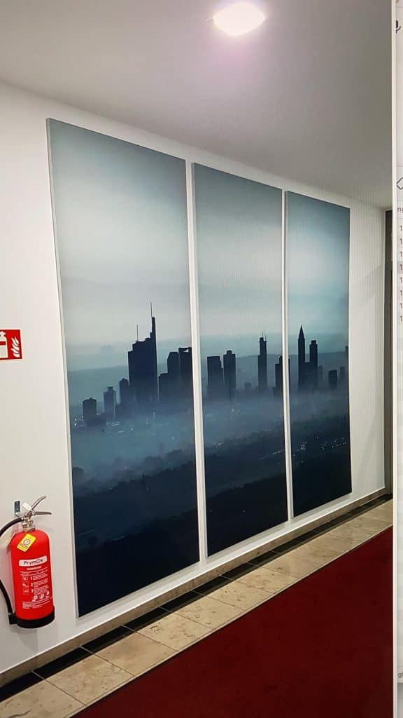 Textildruck Skyline Frankfurt