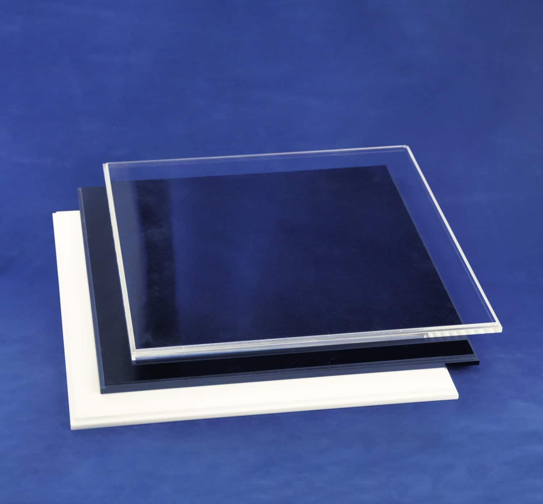 mit schwarzem Boden Hansen Vitrine Acryl//Schaukasten//Objektvitrine//Showcase quadratisch 400x400x400 mm
