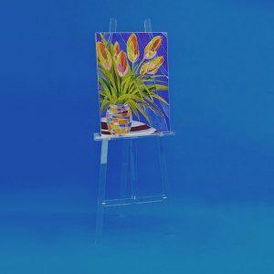 Staffelei aus Acrylglas